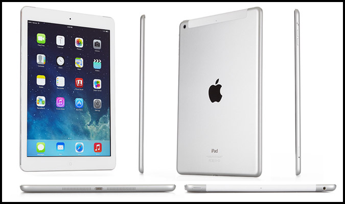 "APPLE IPAD Air 2 - 64GB Wifi 4G Bianco-Grigio Siderale WiFi 9.7"" Retina Bluetooth Webcam - MGH2TY/A A1567"