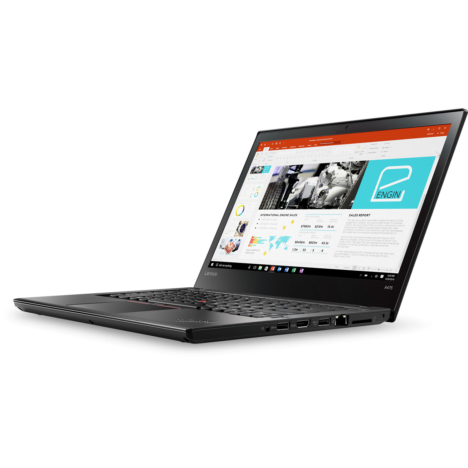 "Lenovo Thinkpad A475 AMD PRO A12-8830B 2.5 Ghz 8GB 120GB SSD Webcam 14.1""  Win 10 Pro - L2411204O GARANZIA LENOVO ON-SITE"